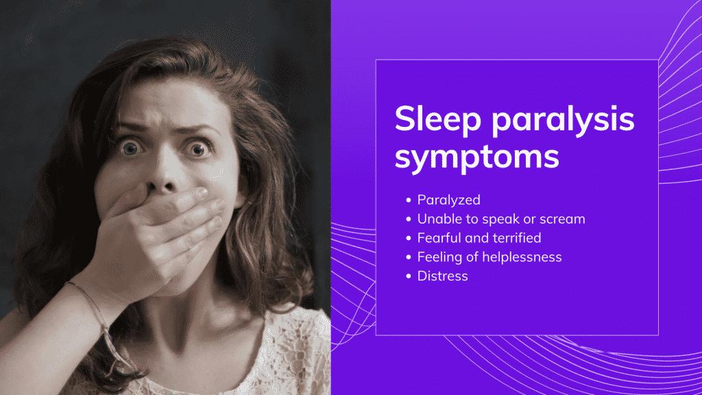 Sleep paralysis symptoms