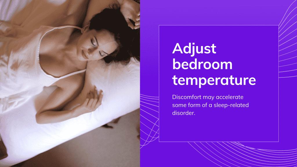 sleep terror treatment: Adjust bedroom temperature