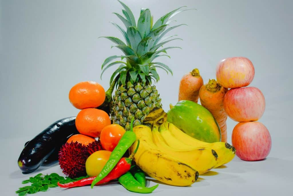 fruits and vegetables - gluten free foods